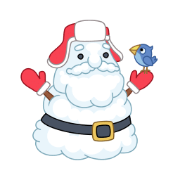 icon of Santa looking as a snowman