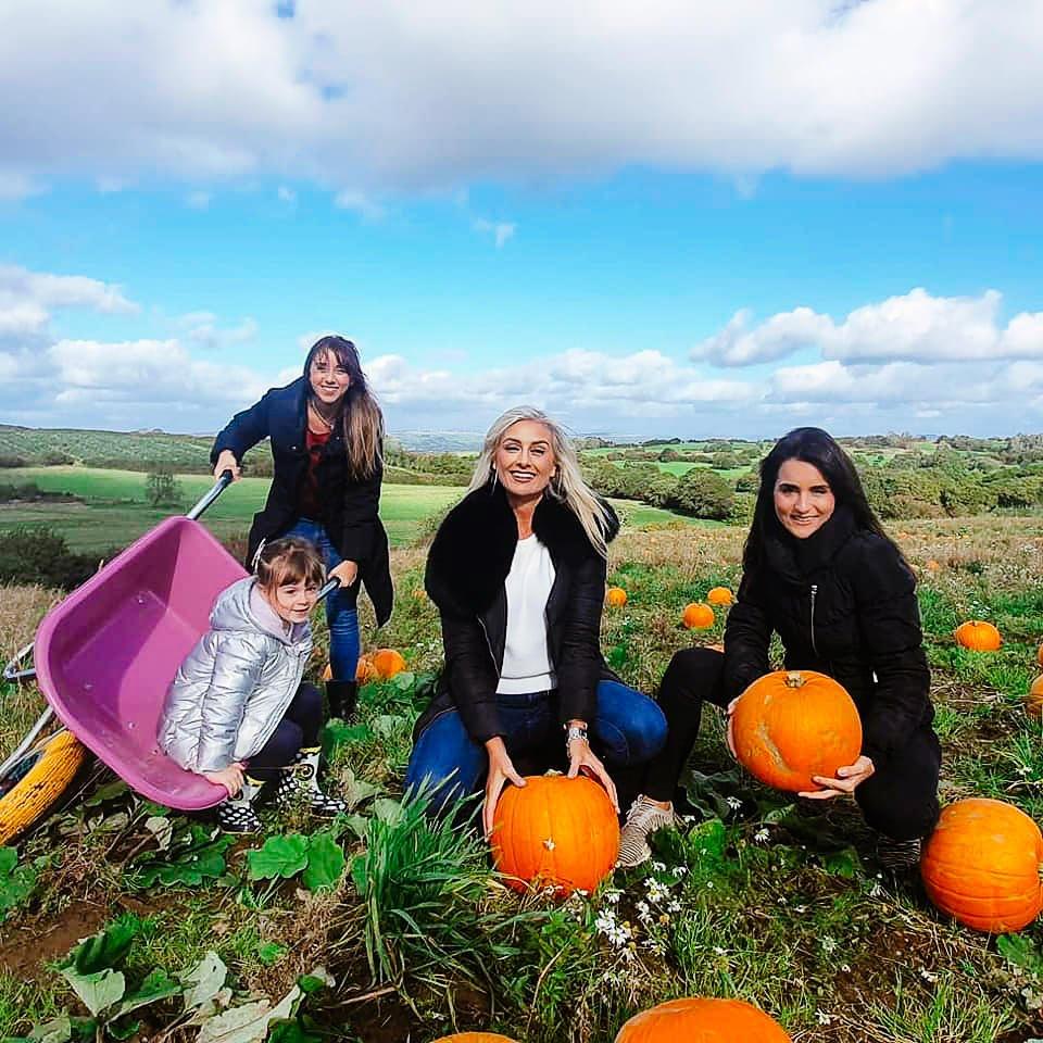 Pick Your Own Gower Pumpkin-family-pick their own pumpkin